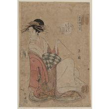 Hosoda Eishi: The courtesan Shiratsuyu of Wakana-ya. - Library of Congress