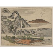 Katsukawa Shunsen: Autumn moon over Ishiyama. - Library of Congress