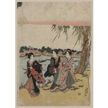 Keisai Eisen: Cherry blossoms at Mimeguri. - Library of Congress