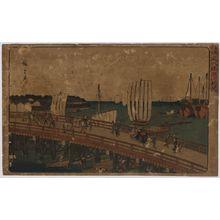 歌川広重: View of Eitai Bridge in Fukagawa. - アメリカ議会図書館