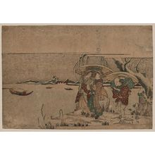 Kikugawa Eizan: Entertainers from Setchu in the snow. - Library of Congress