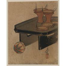 Shibata Zeshin: Oil lamps. - Library of Congress