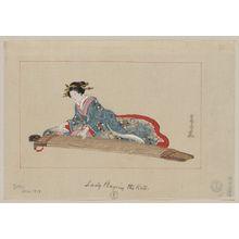 Tsukioka Settei: Lady playing the koto - Library of Congress