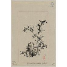 Tsukioka Settei: Rock & bamboo in garden - Library of Congress