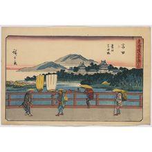 Utagawa Hiroshige: Yoshida - Library of Congress