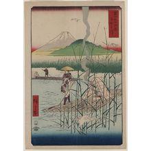 Utagawa Hiroshige: Sagami River. - Library of Congress