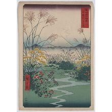 歌川広重: Otsuki fields in Kai Province. - アメリカ議会図書館