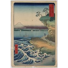 Utagawa Hiroshige: The coast at Hota in Boshu. - Library of Congress
