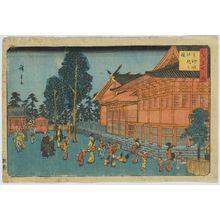 歌川広重: Precinct of Shiba Shinmei Shrine. - アメリカ議会図書館
