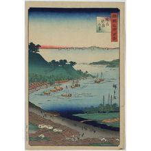 歌川広重: View of Niigata in Echigo Province. - アメリカ議会図書館