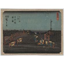 Utagawa Hiroshige: Dawn at Nihonbashi. - Library of Congress