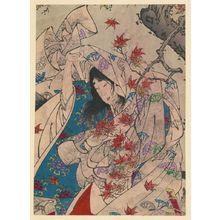 Tsukioka Yoshitoshi: Autumn moon over Sumiyoshi. - Library of Congress