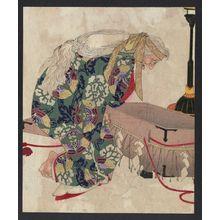 Tsukioka Yoshitoshi: Watanabe no Tsuna and the demon of Ibaraki. - Library of Congress