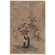 Utamaro II: Monkey holding a potted loquat. - Library of Congress