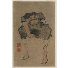 紀楳亭: [A man carrying a large object] - アメリカ議会図書館