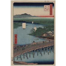 Utagawa Hiroshige: Senju great bridge. - Library of Congress