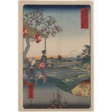 Utagawa Hiroshige: Fujimi Teahouse at Zoshigaya. - Library of Congress