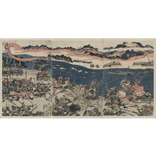 Katsukawa Shuntei: Battle at Kawanakajima. - Library of Congress
