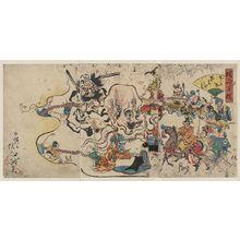 Kawanabe Gyōsai: A comic Buddhist rosary procession. - Library of Congress