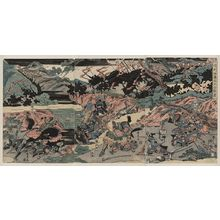 Katsukawa Shuntei: The great battle at Kurikara Valley. - Library of Congress