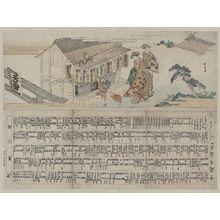 蹄斎北馬: The wash stand at Tennō Shrine. - アメリカ議会図書館
