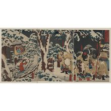 Utagawa Kuniyoshi: Xuande visiting Kongming for the third time. - Library of Congress