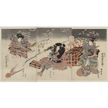 Utagawa Kuniyasu: The actors Iwai Kumesaburō, Ichikawa Danjūrō, and Iwai Shijaku. - Library of Congress