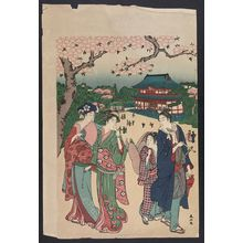 Katsukawa Shunzan: Cherry blossom viewing at Ueno. - Library of Congress