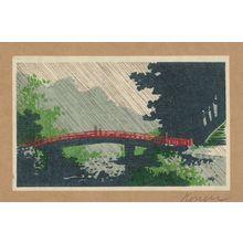 Uehara Konen: Rain over sacred bridge (shinkyō). - アメリカ議会図書館