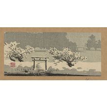 Uehara Konen: Mimeguri Shrine in snow. - Library of Congress