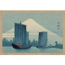 Uehara Konen: Sailboats and Mount Fuji. - アメリカ議会図書館