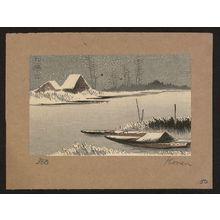 Uehara Konen: Ferryboats in snow. - アメリカ議会図書館
