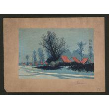 Uehara Konen: Red roofs. - アメリカ議会図書館