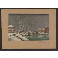 Unknown: Canal in snow. - Library of Congress