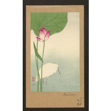Baison: White heron and lotus. - Library of Congress