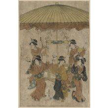 Hosoda Eishi: Sumiyoshi dance. - Library of Congress