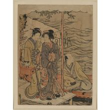 Torii Kiyonaga: A young man at Sanbashi. - Library of Congress