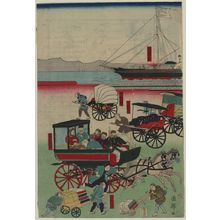 Utagawa Kuniteru: New forms of transportation. - Library of Congress