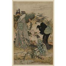 窪俊満: Bushclover at Tamagawa. - アメリカ議会図書館