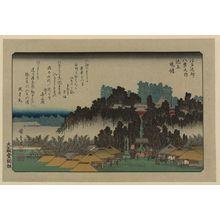 歌川広重: Evening bell at Ikegami. - アメリカ議会図書館