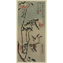 Utagawa Hiroshige: Sparrows and camellias in snow. - Library of Congress