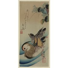 Utagawa Hiroshige: Mandarin ducks. - Library of Congress