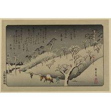 歌川広重: Lingering snow at Asukayama. - アメリカ議会図書館
