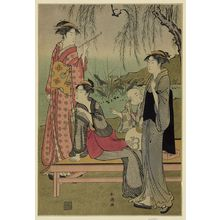 Katsukawa Shuncho: Willow garden. - Library of Congress
