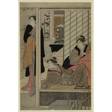 Torii Kiyonaga: Viewing a snow covered garden. - Library of Congress