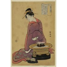 Eishosai Choki: Brazier. - Library of Congress