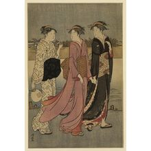 Torii Kiyonaga: Cooling off near the river bank. - Library of Congress