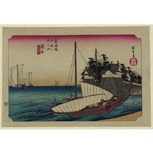 Utagawa Hiroshige: Kuwana - Library of Congress