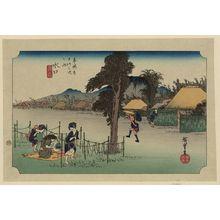 歌川広重: Minakuchi - アメリカ議会図書館