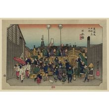 Utagawa Hiroshige: Nihonbashi [2nd edition] - Library of Congress